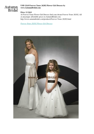 USD 124.8 Forever Yours 26202 Flower Girl Dresses by www.AutumnBridal.com