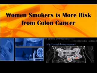 Women Smokers is More Risk from Colon Cancer - Springhill Me