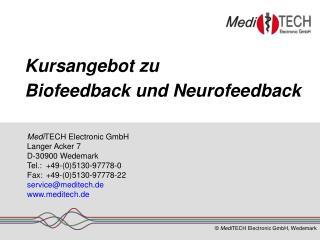 Kursangebot zu Biofeedback und Neurofeedback