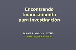 Encontrando financiamiento para investigaci