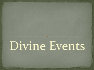 Divine Events, an Events Organizer and Planner