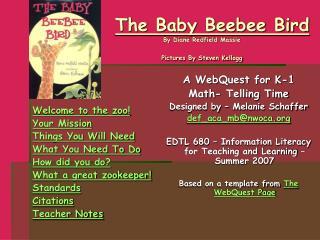 The Baby Beebee Bird nbs