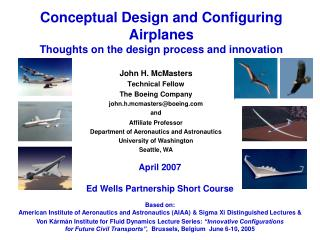 Conceptual Design and Configuring Airplanes Thoughts on the ...