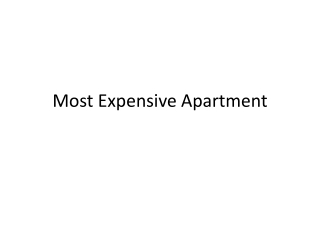 Most expensive apartments