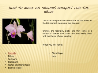 DIY Orchid bouquet