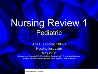 Nursing Review 1 Pediatric
