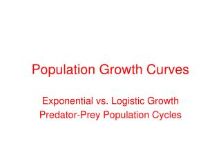 Population Growth Curves