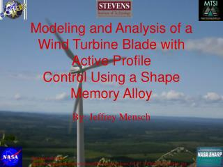 Modeling and Analysis of a Wind Turbine Blade with Active ...