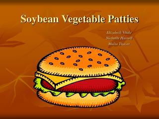 Soybean Vegetable Patties