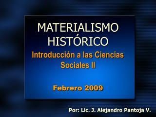 MATERIALISMO HIST