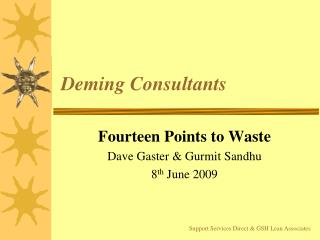 Deming Consultants