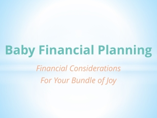 Baby Financial Planning