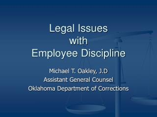 Legal Issues with Employee Discipline