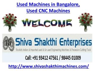 Used Machines in Bangalore, Used CNC Machines in Bangalore