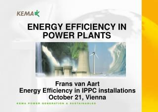 ENERGY EFFICIENCY IN POWER PLANTS