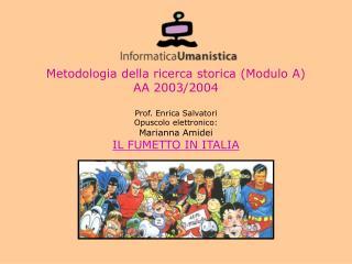 Metodologia della ricerca storica Modulo A AA 20032004