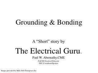 Grounding  Bonding