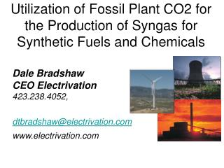 Utilization of Fossil Plant CO2 for the Production of Syngas for ...