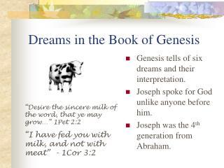 Dreams in the Book of Genesis