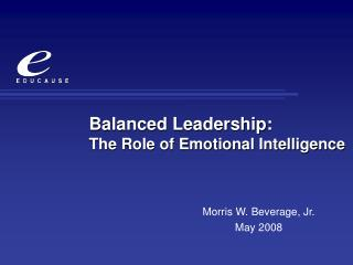 Balanced Leadership: The Role of Emotional Intelligence