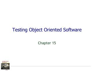 Testing Object Oriented Software