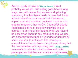 are you guilty of buying tiffanys jewelry