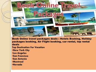 Book online Perfect holiday packages from cheap air e ticket