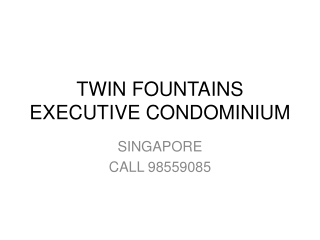 Twin Fountains