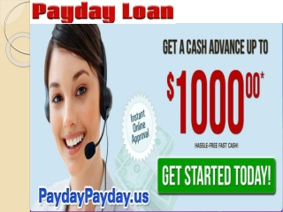 Need on line payday loans