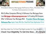 President Obama Mortgage Refinance Plan