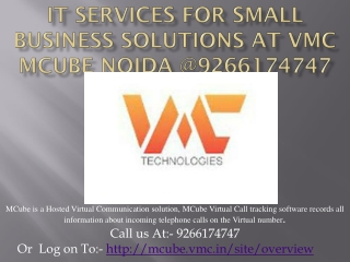 IT Services For Small Business Solutions At VMC MCube Noida