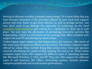 computer repair tempe