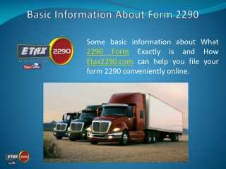 Know More About Form 2290 Electronic Filing