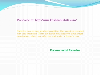 Diabetes Herbal Cure