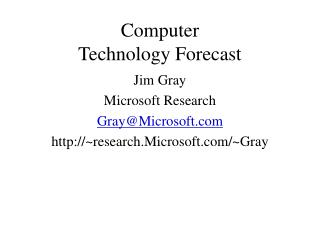 Computer Technology Forecast