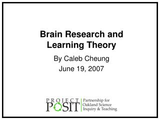 Brain Research and Learning Theory
