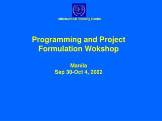 Methods and Tools for Project Formulation 1. The Problem Tree
