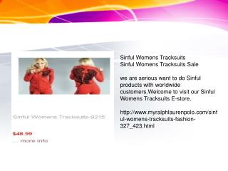 sinful womens tracksuits sale