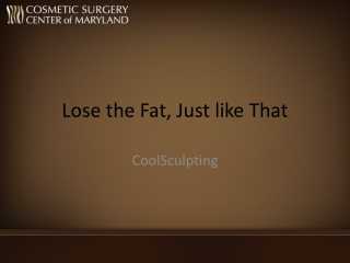 Baltimore coolsculpting