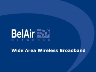 Wide Area Wireless Broadband