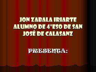 Jon Zabala Iriarte alumno de 4