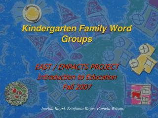 Kindergarten Family Word Groups