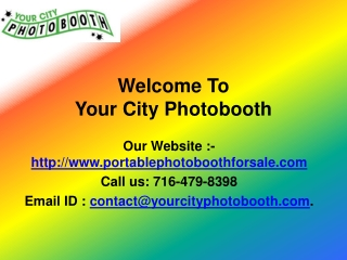 Photo booths sale