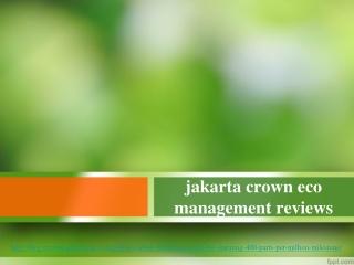 jakarta crown eco management reviews, Global Carbon Emission