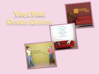 Vinyl Wall Decals Quotes