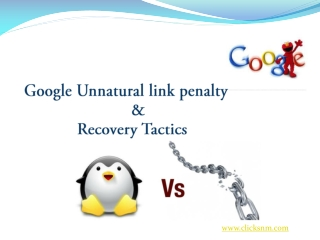 Unnatural links penalty and recovery solutions