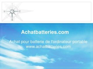 Batterie pour l'ordinateur portable
