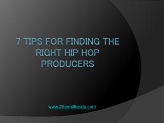 The Hip Hop Producer