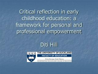 Critical reflection in early childhood education: a framework ...