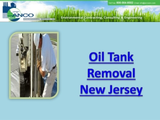 Oil Tank Removal New Jersey